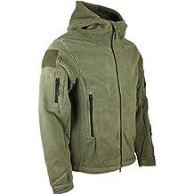 Kombat UK Forro polar militar con capucha, diseño de misión de reconocimiento, hombre, Recon Tactical, verde