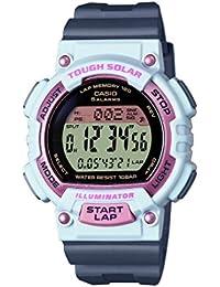 Casio STL-S300H-4AEF - Reloj (Reloj de pulsera, Femenino, Polímero, Rosa, Blanco, Resina, Gris)