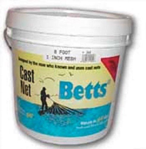 Betts 18–6Meeräsche Cast Net, Mono, druckknopfstiel, 1Mesh, 1.2-pound führen Pro FT - Cast Zubehör Net