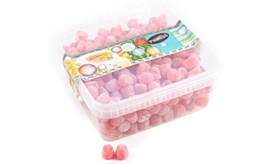 Deine Naschbox - Gepuderte Fruchtgummi Himbeerdrops ohne Zucker - 1kg Box