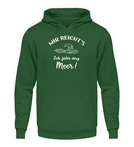 shirt-o-magic Strand: Ich fahr ans Meer! – Unisex Kapuzenpullover Hoodie