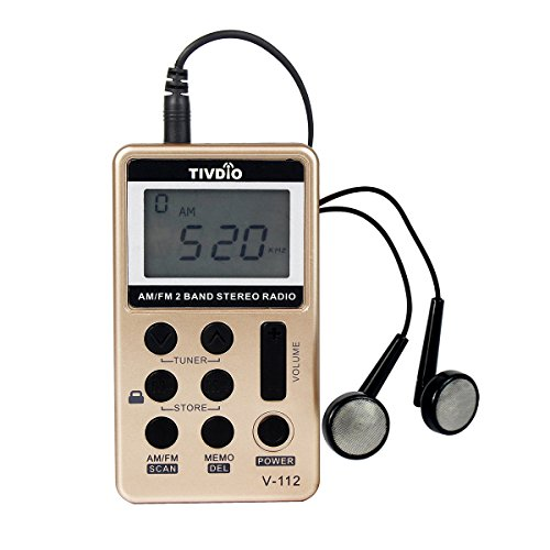tivdio-v-112-pocket-am-fm-radio-mini-receiver-with-rechargeable-battery-and-earphone-golden