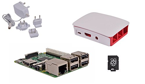 Raspberry Pi 3 Official Desktop Starter Kit (16GB, White)