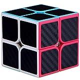 Maomaoyu Cubo Magico 2x2 2x2x2 Profesional Puzzle Cubo de la Velocidad Fibra De Carbono Negro