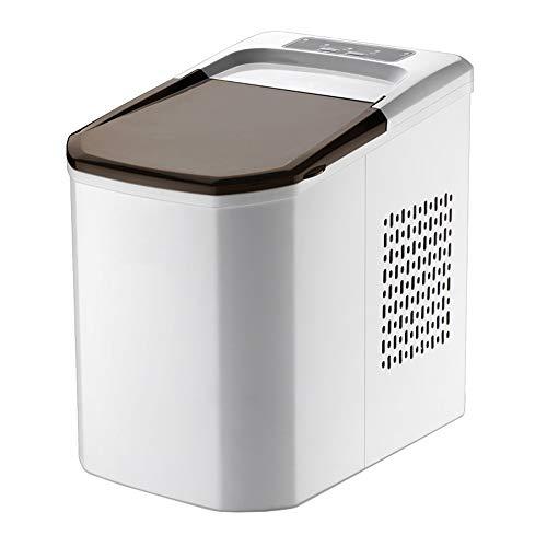 Wgwioo Tragbare Eismaschine, Gegenobereiswürfel-Maschine, Produziert 15Kg Eis Pro 24 Stunden, Wählbar 2 Würfelgröße