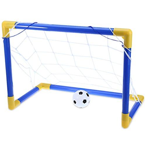 RUNACC Mini Football But Set Football Objectif Post Net Set Portable Soccer Goal Poteau Ensemble avec pompe pour les enfants, Convient pour une utilisation intérieure et extérieure RUNACC