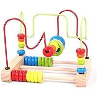 Preisvergleich für Bunte Perlen Labyrinth Spielzeug Klassische Babys Kleinkinder Holzachterbahn Perlen Frühe Lernspielzeug