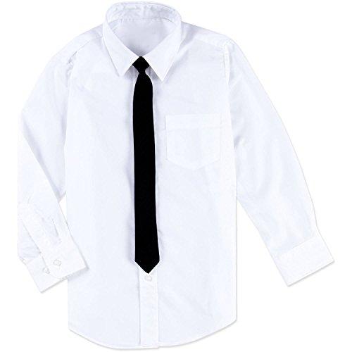1000 Ting Denmark Weißes Hemd mit schwarzer Krawatte (10 Jahre/Größe 140) (Jungen Krawatte Mit Hemd)