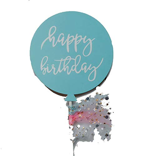 Star Moon Cake Toppers Herz Happy Birthday Cake Topper Glitter Gold Cake Flag für Mädchen Baby Shower Geburtstag Hochzeit Dekoration multi