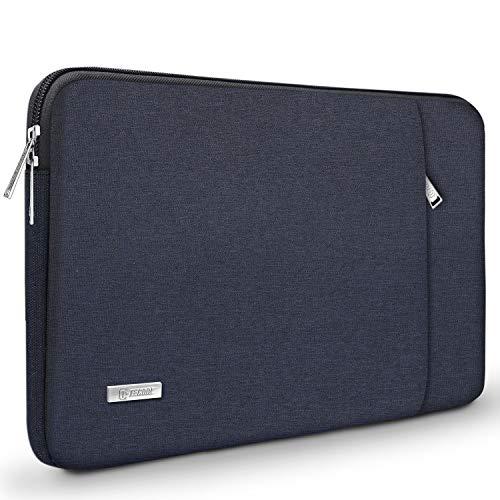 TECOOL 14 Zoll Laptop Hülle Tasche Schutzhülle Sleeve mit Zubehörtasche für 2016-2019 MacBook Pro 15, 14 Zoll ASUS Lenovo Dell HP Acer Huawei Notebooks Ultrabooks, Dunkelblau