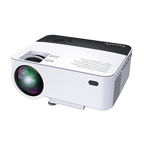 ExquizOn-T5-Portable-Projector-1500-Lumens-LED-Mini-Video-Projector-with-Dual-IR-Sensor-Supports-HD-1080P-and-Multi-Screen-Home-Theater-Projector-for-Multimidia-Smartphone-Tablet-Home-Entertainment-Ga