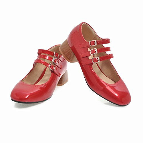 Misssasa Elegant Chaussures Femme Rouge