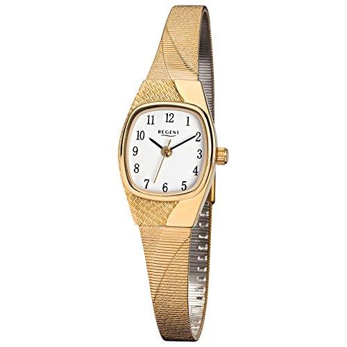 Regent de mujer reloj de pulsera elegante analógico de acero inoxidable Pulsera de oro de cuarzo reloj esfera blanco urf624