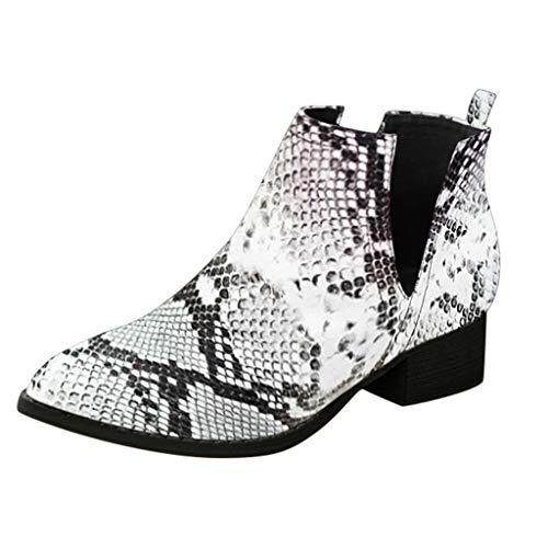 Sanahy Chaussure Compensee Femme Serpent, Bottes à Talons Escarpins Compensee Sexy Pour Femmes Chaussures Bottes Imprimer Talon Haut: 4.5cm (Talon Cosplay Kostüm)