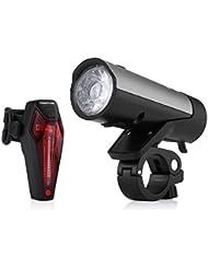 Poweradd LED Fahrradlicht Set inkl. Frontlichter und Rücklicht