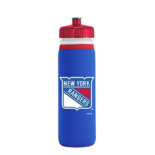 nhl-new-york-rangers-van-metro-squeezable-ldpe-water-bottle-blue-22-ounce-by-kolder-licensed-inc