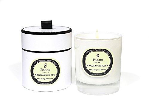 Kerzen Aromatherapie: Aroma Birne Orange Lavendel -