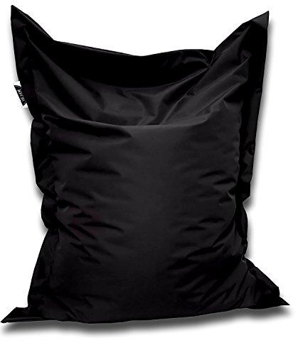 Patchhome Sitzsack und Sitzkissen Eckig - Schwarz - 180x145cm in 25 Farben und 7 versch. Größen