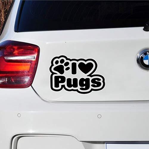 Auto Aufkleber Katze Car Styling Ich liebe Möpse Auto LKW Fenster Aufkleber Aufkleber Persönlichkeit Auto Aufkleber -