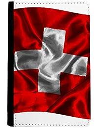 f68ddab2a6a75 beatChong Silk Beschaffenheit Schweiz Abstrakt Flagge Muster-Pass-Halter  Travel Wallet Abdeckungs-Fall