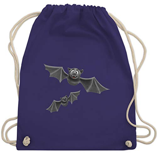 Halloween - süße Fledermäuse - Unisize - Lila - WM110 - Turnbeutel & Gym Bag (Für Halloween Ideen Kostüme Gruppe)