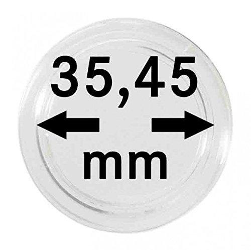 Lindner S22703545P Münzkapseln 35.45 mm-10er Pack