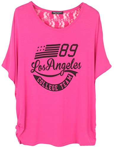 Emma & Giovanni T-shirt/Oberteile (Los Angeles) - Damen (Fuchsie, S/M)