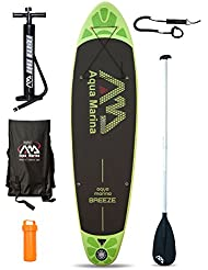Breeze (9ft 9 en/300 cm) hinchable Stand Up Paddle Board Sup, hombre mujer Infantil, Breeze, Board + Paddle + Leash