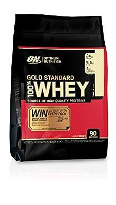 Optimum Nutrition Gold Standard 100% Whey Protein Powder - 2.72kg, Vanilla Ice Cream