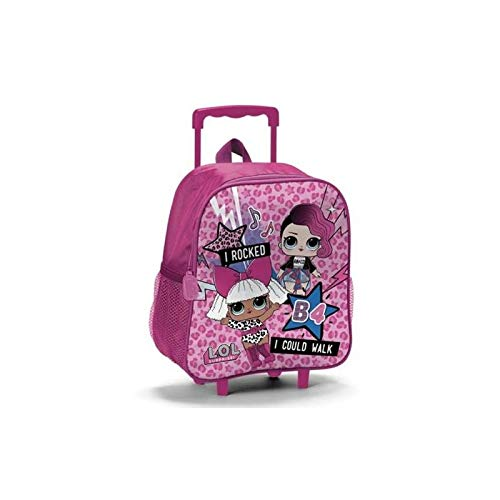 Lol surprise b98390 zaino trolley asilo, 31 centimetri, poliestere, multicolore