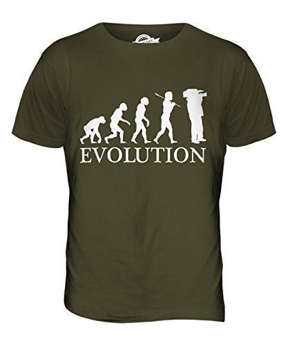 CandyMix Kameraoperateur Evolution Des Menschen Herren T Shirt Khaki Grün