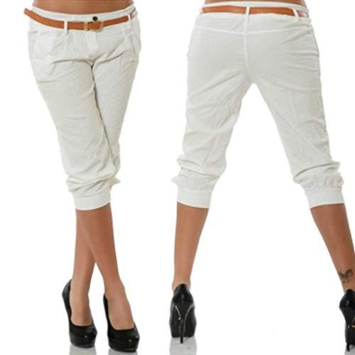 KIMODO® Damen Einfarbig elastische Taille Hose mit breites Bein, Baggy Sommer Boho Yoga Freizeithose Pants Große Größen