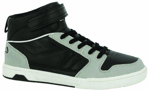 Umbro Salford Mid Vc Child, Chaussures de tennis garçon Noir (242 Noir/Gris Clair/Blanc)