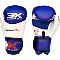 PROFESSIONAL CHOICE 3X Boxing Training Men, Sparring, Punching Bag, Fighting Padded with Wrist Support (Blue, 10oz)