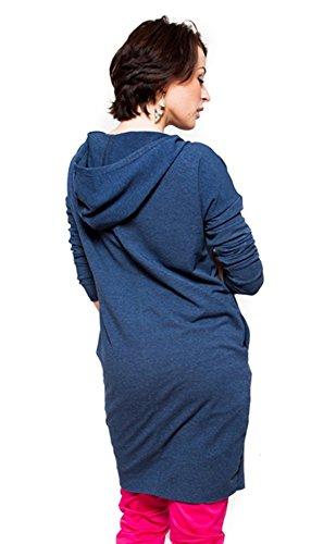 Mija – Veste moderne zippée pour les femmes de maternité 9000 Bleu