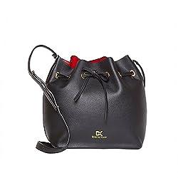 Diana Korr Black P. U. Handbag (DK119HBLK)