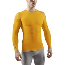 Sub Sports - Camiseta de compresión para hombre, talla S, color amarillo