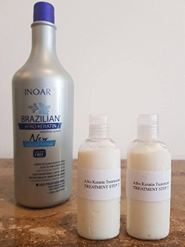 INOAR - Kit di Cheratina Afro Brasiliana anti crespo Multi Size (2 X 100ML Proprio Keratina)