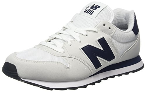 New Balance Herren GM500 Sneaker, Weiß (White/navy/GM500OWN), 45 EU (Navy Schuhe Herren)