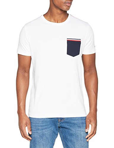 Tommy Hilfiger Herren T-Shirt Pocket Organic Cotton Tee, Weiß (Bright White 100), XX-Large (Herren Pocket T-shirts)