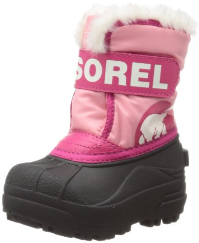 Sorel Snow Commander Winter Boot,Coral Pink/Bright Rose,7 M US Toddler