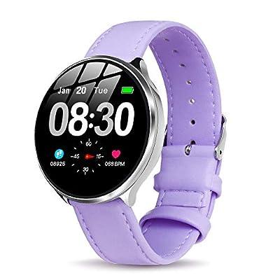 GOKOO Smartwatch Mujer, Impermeable Reloj Inteligente Elegante Monitores de Actividad Impermeable IP67 con Monitor de Sueño Pulsómetros Podómetro Contador de Caloría Compatible con iOS Android