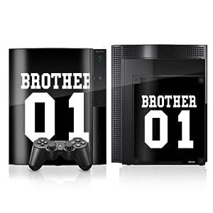 DeinDesign Sony Playstation 4 Controller Folie Skin Sticker aus Vinyl-Folie Aufkleber Brother Bruder Bro