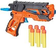 Amazon Brand - Jam & Honey Super Toy Gun Set, Orange, with Soft Foam Bullets, Eye Protection Glasses, Targ