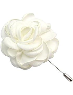 TOOKY Blumen-Brosche mit Anstecknadel, handgefertigt, Knopflochblume für Hosenanzüge / Korsagen