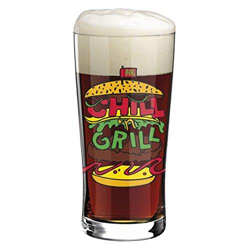 Ritzenhoff 3090007 Beer und More Design Trend-/Bier-/Wasser Glas mit Bierdeckeln, Pietro Chiera, Frühjahr 2015