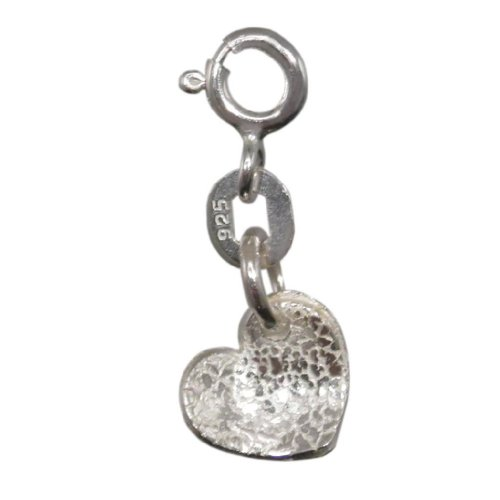 Silver Heart Charm |Handmade 925 Sterling Adults / Children | FREE Delivery in UK Gift Wrapped Gifts