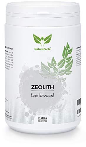 NaturaForte Zeolith Klinoptilolith Pulver 500g - Extra fein in Premiumqualität, geprüft und kontrolliert in Deutschland