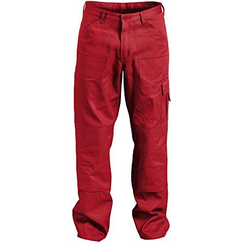 'Kübler Pantaloni da lavoro Quality Dress con tasche laterali, 1pezzi, 44, Rosso, 26141314-55-44