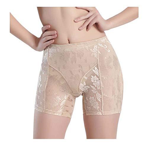 Jolie Frauen Jacquard Gepolstert Butt Lifter Hip Enhancer Shaper Höschen Unterwäsche (2 Packungen),Natural,M (Butt Lifter Und Hip Enhancer)